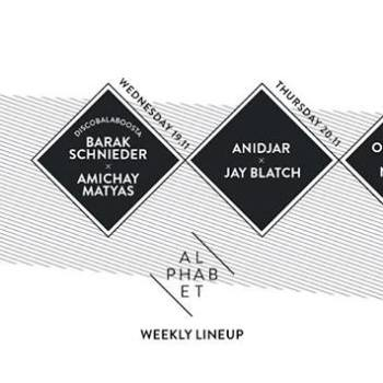 Alphabet club Weekly Line Up -17.11 to 22.11 November