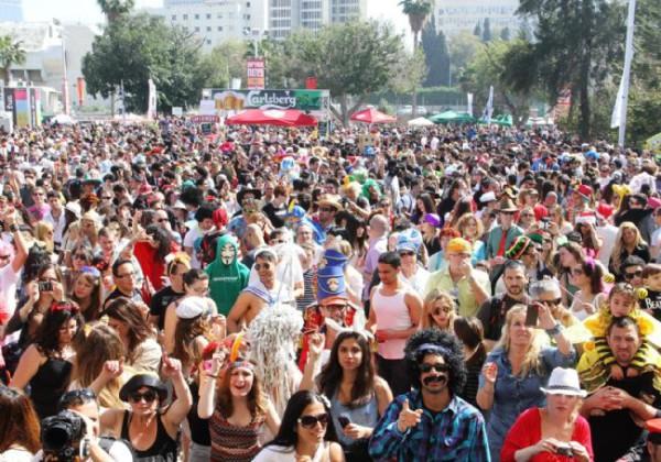Street Parties Purim 2016 Tel Aviv
